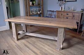 Reclaimed Heart Pine Farmhouse Table  DIY  Part   Final - Pine dining room table