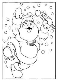 exciting santa claus in christmas coloring pages printable