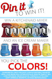 pin it to win it kitchenaid mixer and ice cream maker giveaway