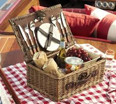 picnic basket for 2 rattan picnic basket for 2 pottery barn