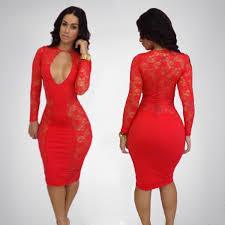 Red Cocktail Dress Plus Size Plus Size Red Lace Dress With Sleeves