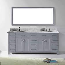 virtu usa caroline parkway 78 inch carrara white marble double