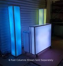 6 foot led light bar folding 4 foot led glow light up portable bar on wheels led glow