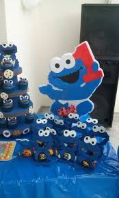 Elmo Centerpieces Ideas by Elmo Birthday Party Sesame Street Birthday Cookie Monster