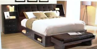 espresso queen size platform bed with storage underneath and