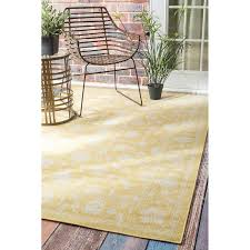 Yellow Outdoor Rug Traditional Modern Indoor And Outdoor Yellow Vintage Porch Rug