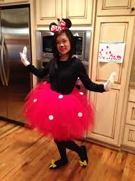 tutu spirit halloween diy mini mouse costume red tulle no sew tutu white gloves diy