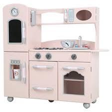 Kidkraft Urban Espresso Kitchen - teamson kids retro wooden play kitchen pink target