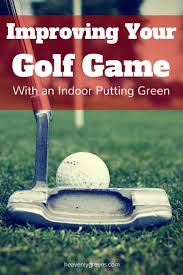 improving your golf game with a backyard putting green