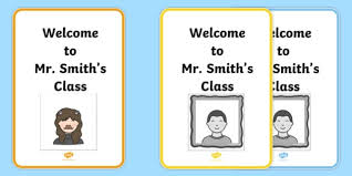 avatar creator template welcome to class sign display sign