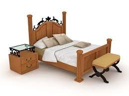 Wood And Iron Bedroom Furniture by Bedroom Furniture 3d Model Free Download Cadnav Com