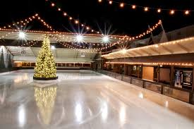 winter lodge skating rink