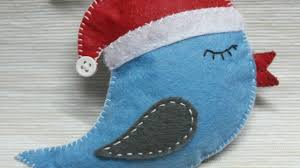 how to make a felt bird ornament diy crafts tutorial