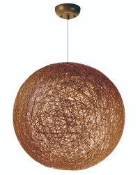 Coconut Shell Chandelier Bali 1 Light Chandelier Single Pendant Maxim Lighting