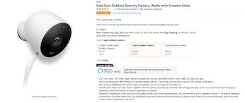 amazon black friday nest thermostat update now 153 deal alert amazon has the nest cam outdoor for