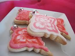 ornament cookies purple chocolat home