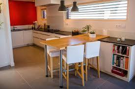 table de cuisine sur mesure table cuisine chene cuisine chene naturel sans poigne en l