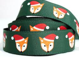 fox ribbon fox ribbon etsy