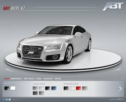audi configurater abt sportsline audi a7 in the 3d configurator ramspeed