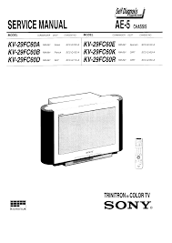 sony kv29fc60d service manual immediate download