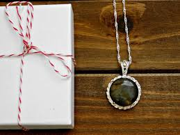 green gem necklace images Gemstone necklace labradorite dark green gem gemstone pendant crystal jpeg