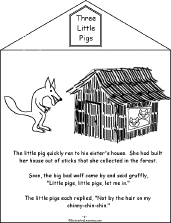 pigs book printable book enchantedlearning
