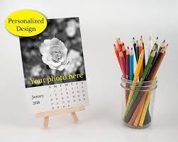 design your own desk calendar 2018 personalized desk calendar with easel customize loose