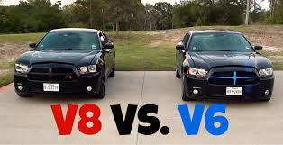 dodge charger r t vs dodge charger sxt v8 vs v6 racing youtube