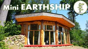 incredible mini earthship style cabin tiny off grid house with