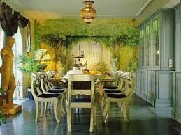 artistic dining room furniture under interesting ceiling lamp and