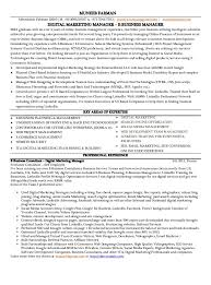 Sample Digital Marketing Resume by Email Marketing Resume Contegri Com