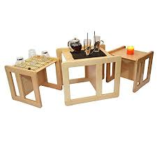 multifunctional table 3 in 1 adults multifunctional nest of coffee tables set of 3 or