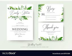 wedding invitations greenery greenery floral wedding invitation thank you cards