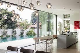 modern mediterranean residence built around a pool