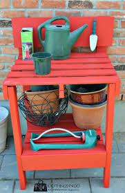Garden Potting Bench Ideas Garden Potting Bench From Pallets Home Outdoor Decoration