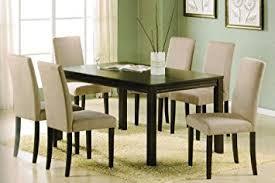 espresso dining room set 7pc dining table set contemporary espresso finish