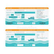 sea cruise ship boarding pass or ticket template stock vector
