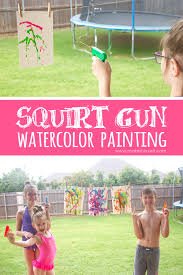 gun watercolor painting a fun summer project make it