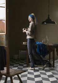 painting girl with the pearl earring mash ups of renaissance paintings and contemporary photos