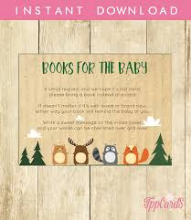 Baby Shower Instead Of A Card Bring A Book Bring A Book Baby Shower Invitation Insert Instead Of A Card Stock