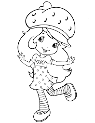 strawberry shortcake coloring pages for kids free printable