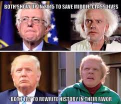 Back To The Future Meme - back to the future bernie and trump back to the future know