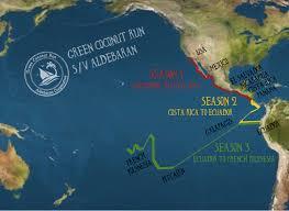 Satellite Map Usa Season 3 U2013 South Pacific 2017 Sailing Green Coconut Run