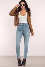 Denim Blue by Cute 76 Vintage Denim Skinny Jeans Blue Denim 76 Vintage