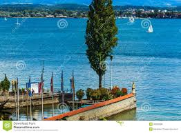 Konstanz Germany Map by Port Of Flower Island Mainau Lake Constance Germany Stock Photo
