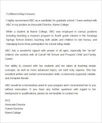 employer recommendation letter sample sample character reference