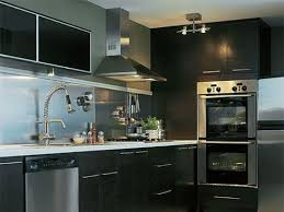 kitchens with stainless steel backsplash black kitchen with stainless steel backsplash modern kitchen with