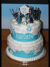 2 let it go again frozen themed birthday cake made for my 5yr