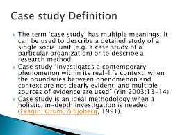 case analysis any organization 5 case study research2 case