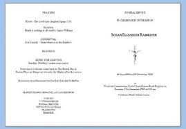 Funeral Programs Order Of Service Funeral Service Sheets Funeral Service In Peacehaven Uk